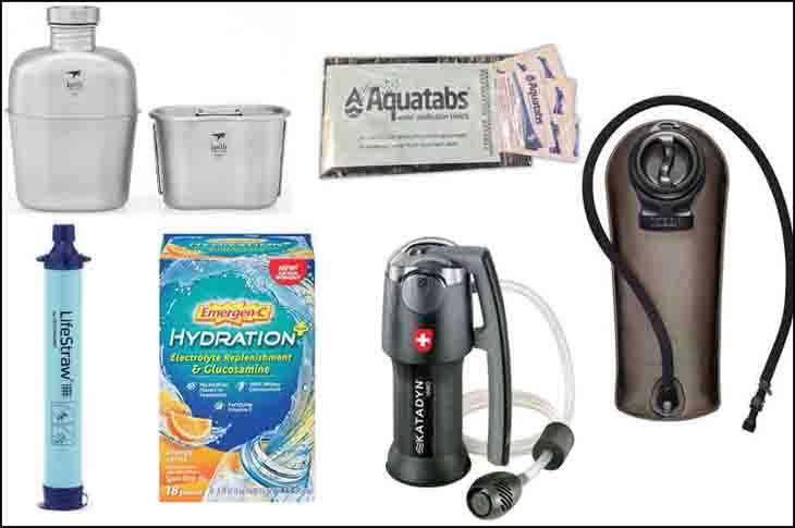Survival Gear List Water